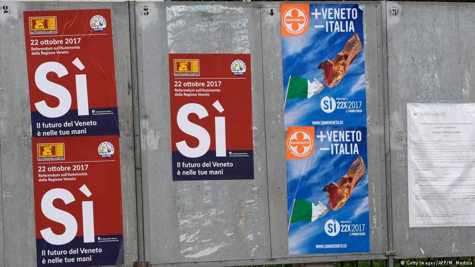 Lombardiya ve Veneto'dan referandumda