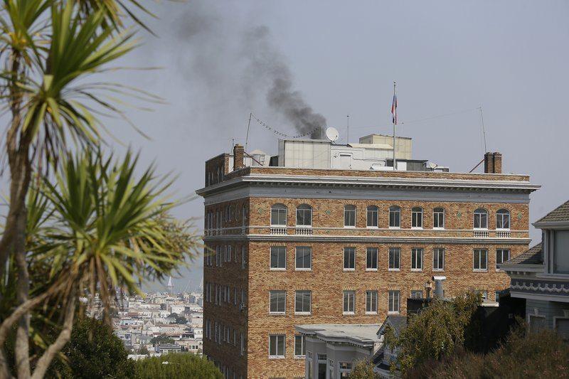 ABD kapıları kırdı, San Francisco'daki Rusya Konsolosluğu'na girdi