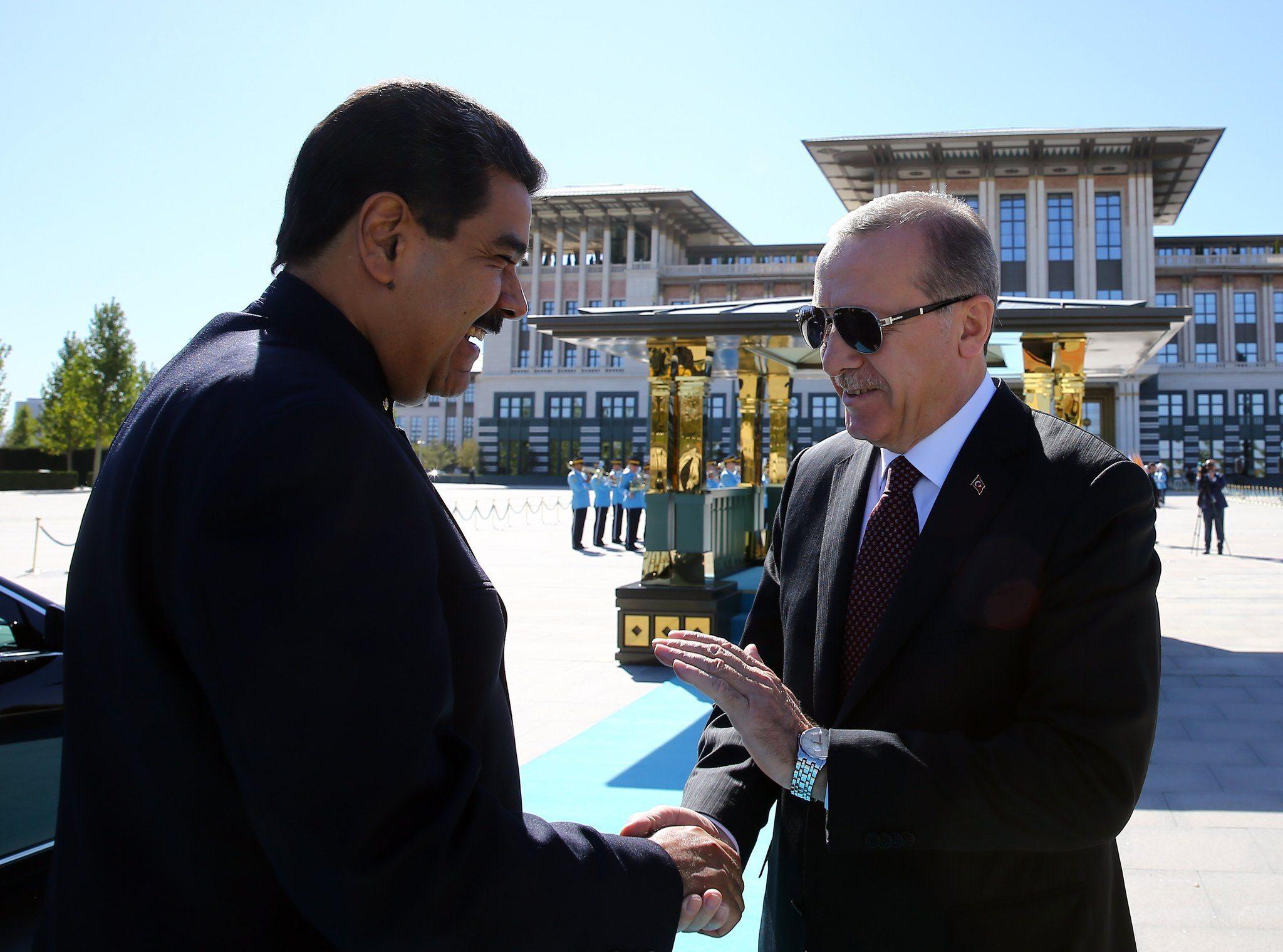 Venezuela Cumhurbaşkanı Maduro Erdoğan ile görüştü