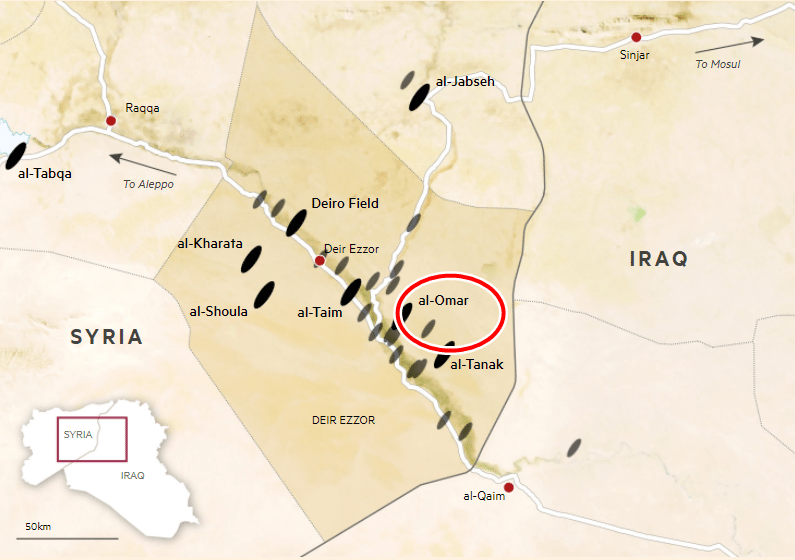 Suriye'nin en zengin petrol yatağı YPG'nin kontrolüne geçti