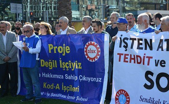 İzmir'de işten atılan Kod-A işçilerine OHAL engeli