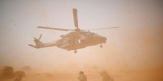 NATO helikopteri düştü
