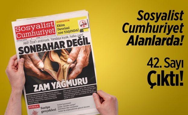 Sosyalist Cumhuriyet'in yeni sayısı çıktı!