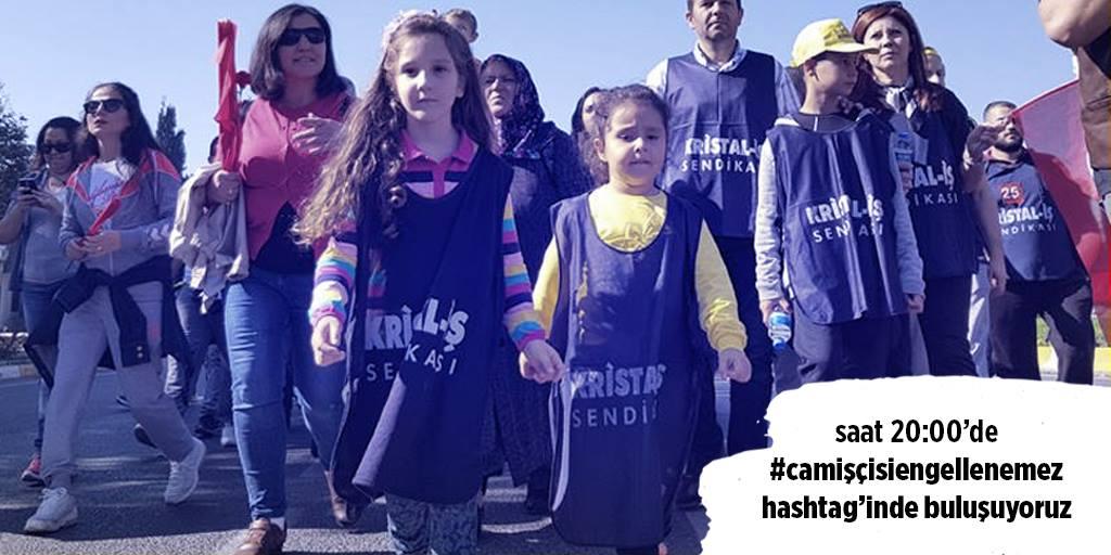Şişecam işçilerinin yürüyüşünün yasaklanması sosyal medyada protesto edilecek: #CamİşcisiEngellenemez