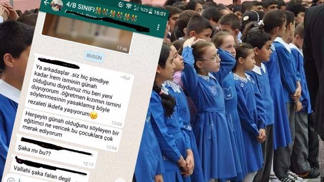 İstanbul'da öğretmen sınıfta şeriat ilan etti: 'İrem' ismi yasak, kedi köpek beslemeyin, bebeğe ismini babaanne koyar