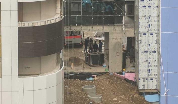 Şişli Eftal inşaatında çalışan işçiler asansör boşluğuna düştü!