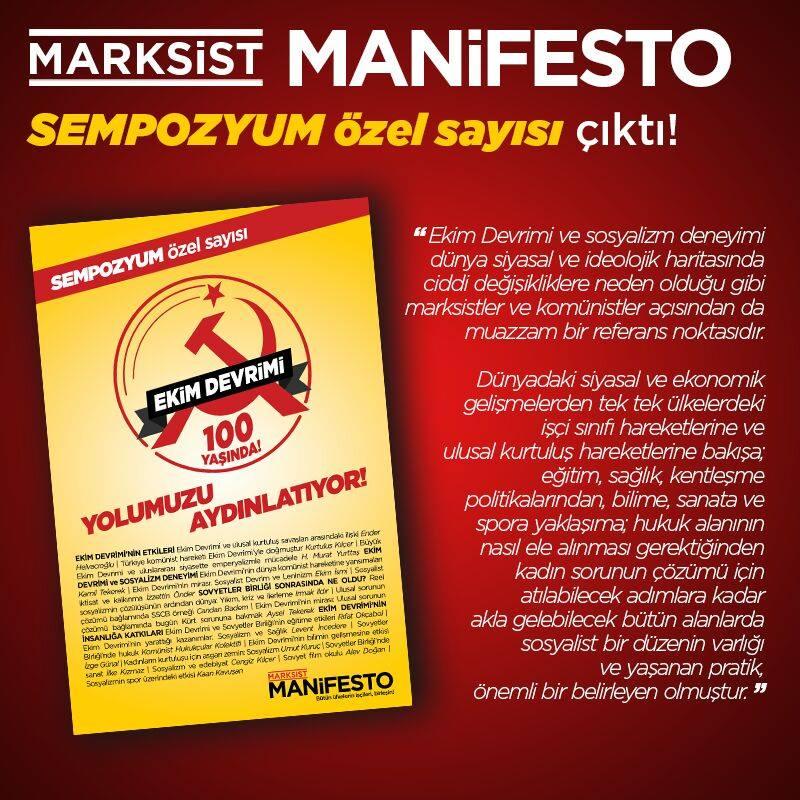 Marksist Manifesto'nun özel sayısı çıktı