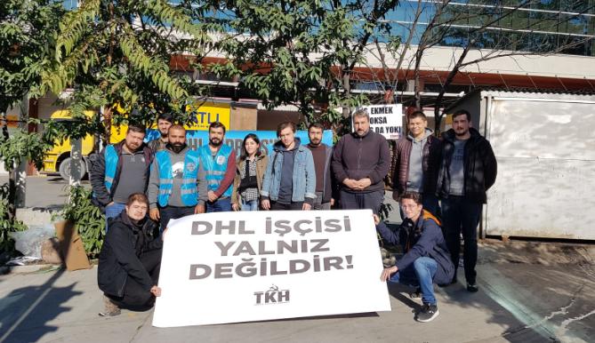 Türkiye Komünist Hareketi direnişteki DHL işçilerini ziyaret etti
