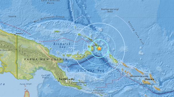 Papua Yeni Gine'de 6 büyüklüğünde deprem