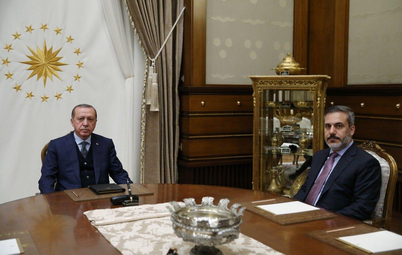 Erdoğan MİT Müsteşarını kabul etti