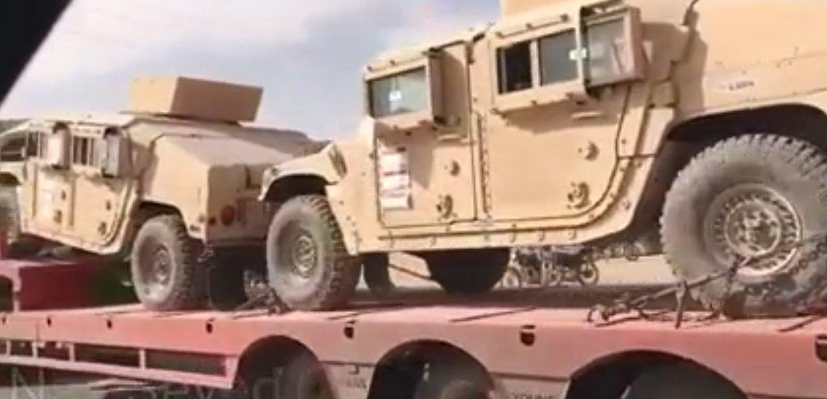 VİDEO | ABD'den SDG'ye silah ve zırhlı araç sevkiyatı
