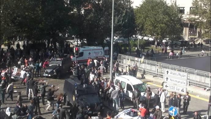 10 Ekim Katliamı'na ilişkin yeni görüntüler ortaya çıktı: Polis araçları insan parçaları üzerinden geçiyor