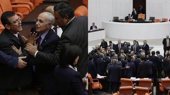Meclis Genel Kurulu'nda Sarraf kavgası çıktı