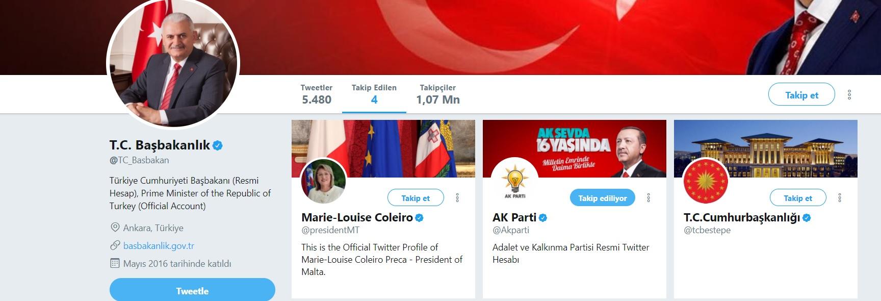 Paradise Papers sonrası Binali Yıldırım'ın Twitter hesabında dikkat çeken ayrıntı