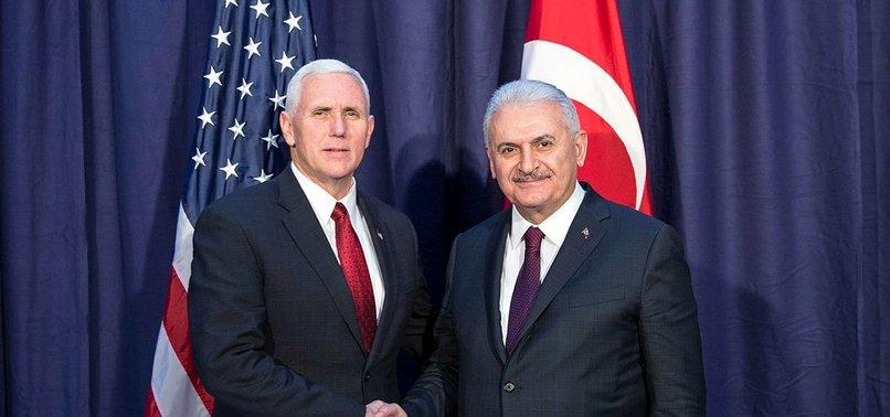 Yıldırım ile ABD Başkan Yardımcısı Pence'in görüşmesi sona erdi