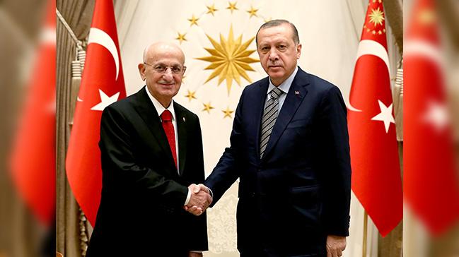 Erdoğan, TBMM Başkanlığına yeniden seçilen Kahraman'ı kabul etti