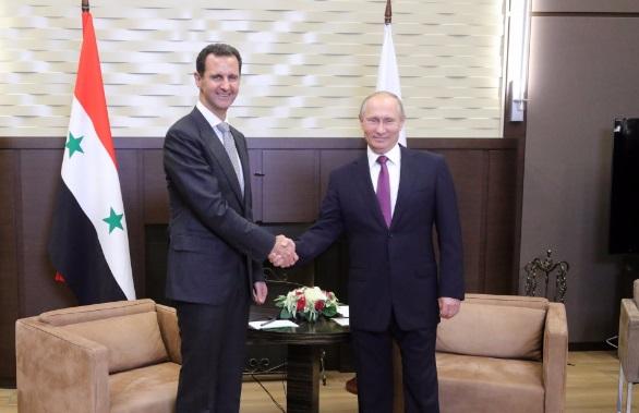 Esad Soçi'de: Putin'den tebrik