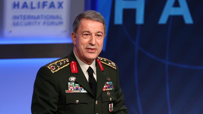 Hulusi Akar NATO toplantısı için Belçika'ya gitti