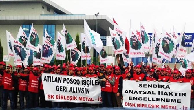 Direnen Posco işçileri Güney Kore Başkonsolosluğu'nun kapısına dayanacak