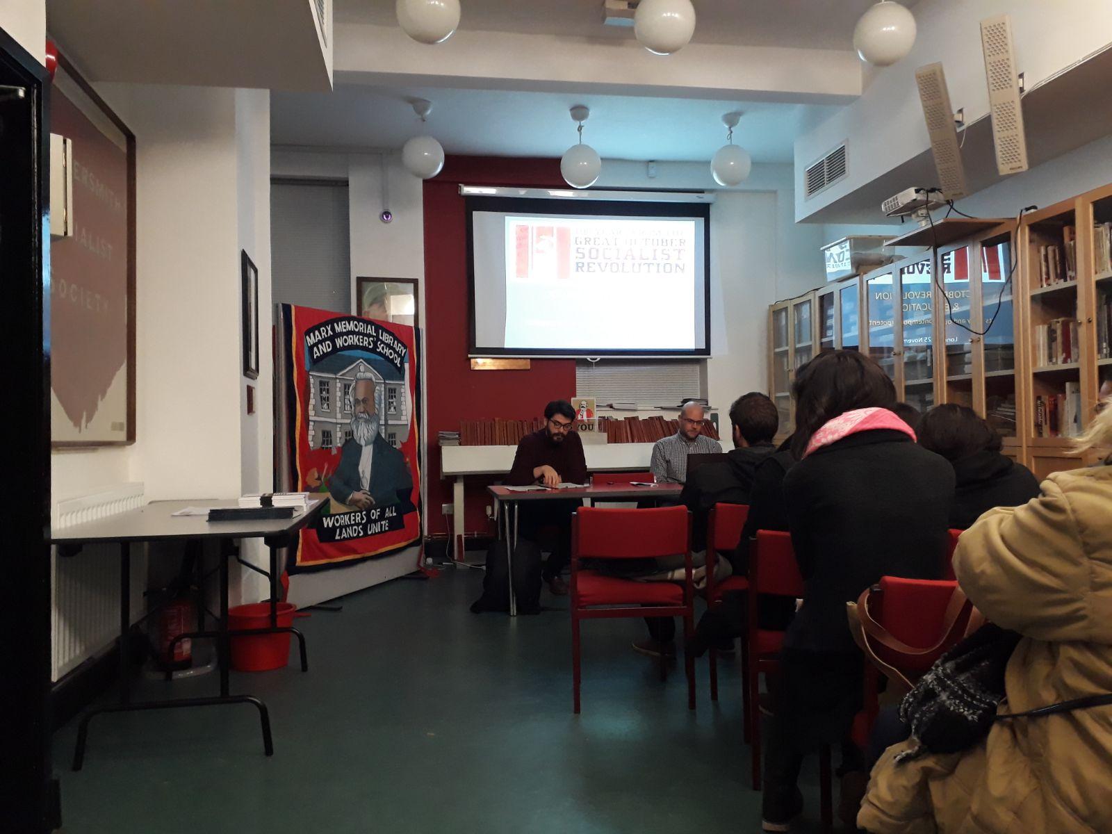 """Yunanistan Komünist Partisi'nden Londra'da """"Ekim Devrimi'nin Eğitim'e katkıları"""" etkinliği"""