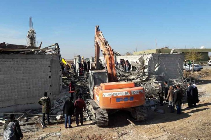 Urfa'da inşaat çöktü: 1 işçi yaşamını yitirdi