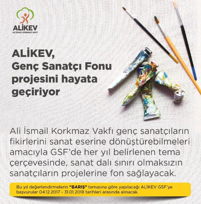 Genç sanatçılar Ali İsmail Korkmaz Vakfı (ALİKEV) ile hayallerini gerçekleştirecek