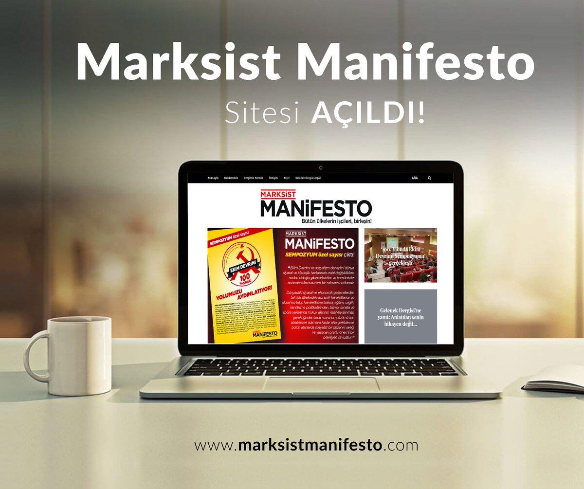 Teorik dergi Marksist Manifesto'nun internet sitesi açıldı