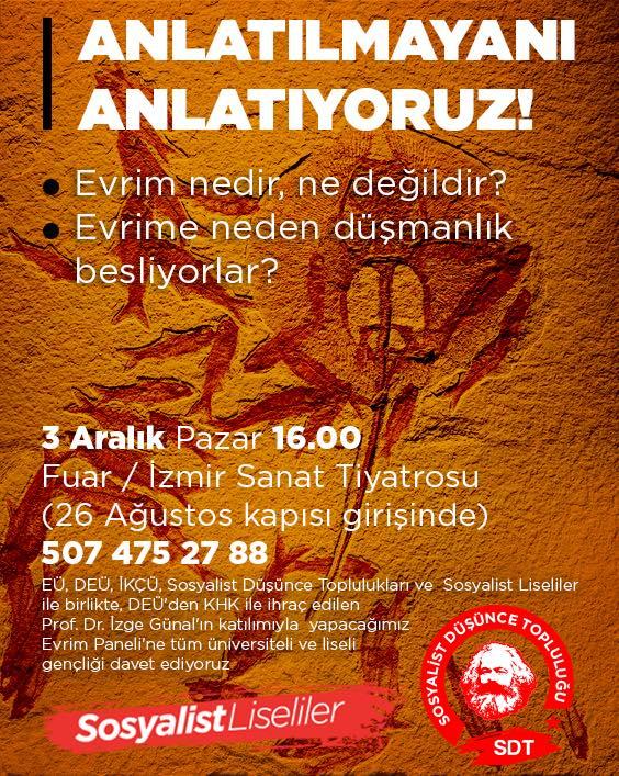 Gençlik İzmir'de evrim paneli düzenleyecek