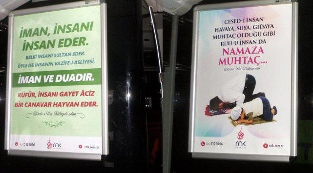 İETT metrobüsleri Said Nursi afişleriyle donattı!