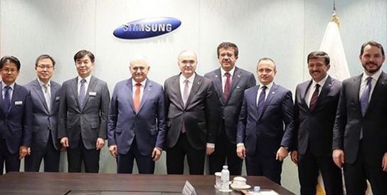 Samsung Başkanı'ndan Samsun Valisi'ne selam