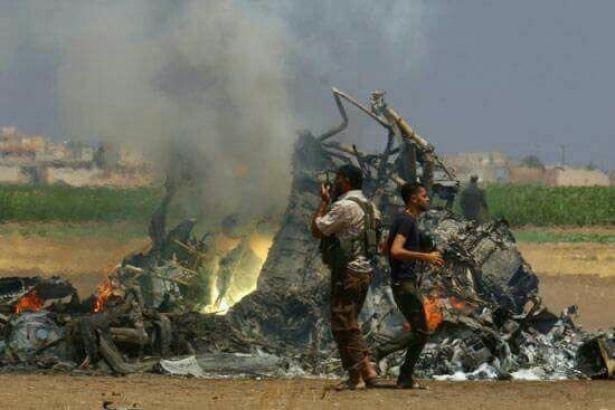 Cihatçı çeteler Suriye uçağını düşürüp pilotu infaz etti
