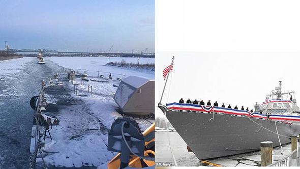 ABD savaş gemisi mahsur kaldı