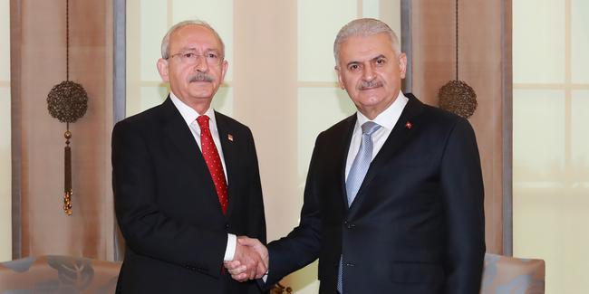 Başbakan Yıldırım ile Kılıçdaroğlu görüştü