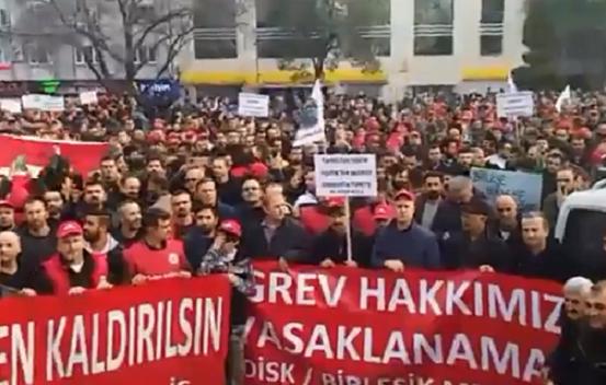 MESS dayatmalarına karşı binlerce metal işçisi Gebze'de buluştu