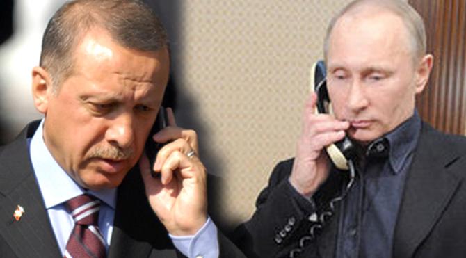 Erdoğan, Putinle telefonda görüştü