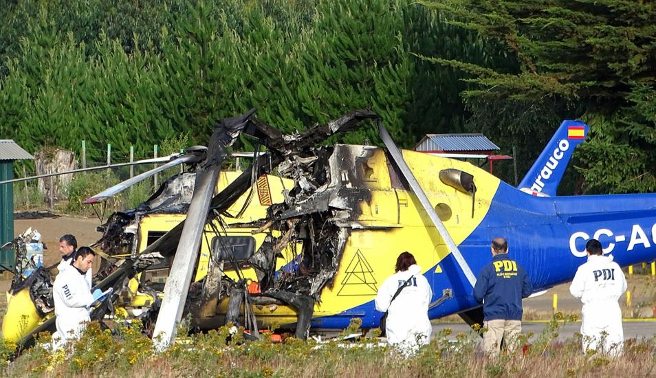 Papa Franciscus'un Şili'yi  ziyaret öncesinde 2 kilise ve 3 helikopter ateşe verildi