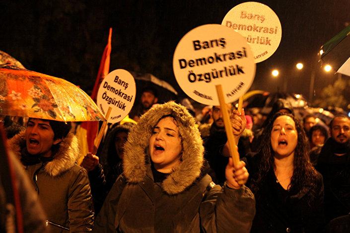Kıbrıs'ta Erdoğan protestosu