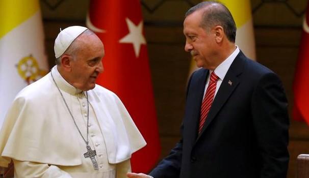 Papa: Erdoğan'ın ziyaretinden memnuniyet duyarım