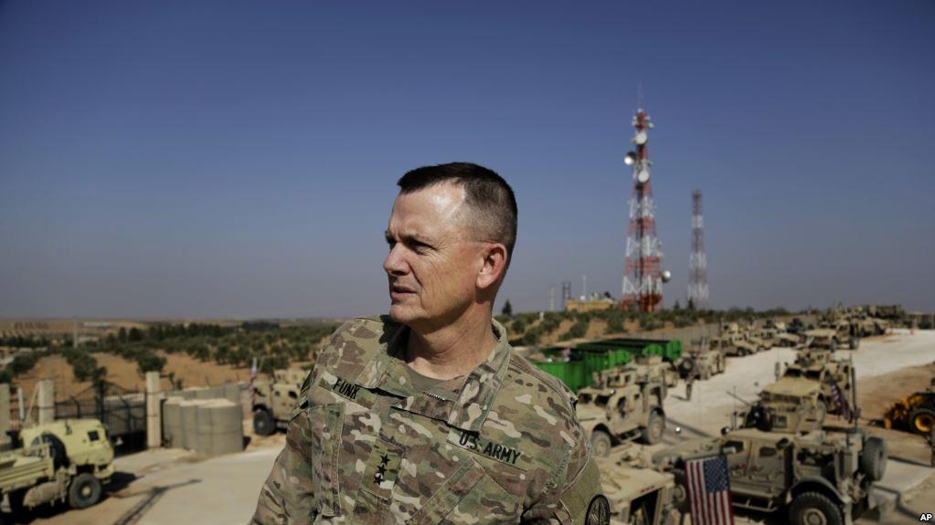ABD'li Korgeneral Paul E. Funk: Amerikan askerleri Menbiç'te kalmaya devam edecek