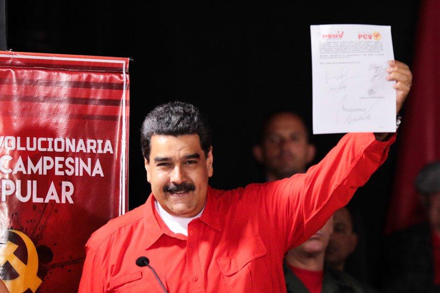 Venezuela Komünist Partisi'nden Maduro ile ittifak kararı