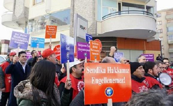 Sendikalı oldukları için işten çıkarılan MAPP işçileri eylemde