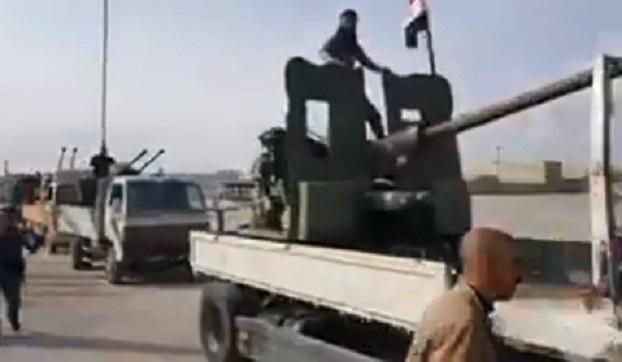 VİDEO | Suriye hükümetine bağlı güçler Afrin'e ilerliyor
