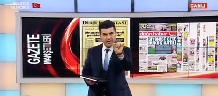 Cumhuriyet'i tehdit eden Akit TV spikerine suç duyurusu
