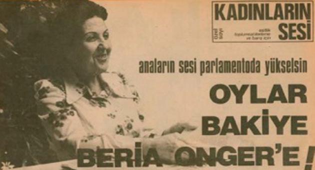Hafıza-i Beşer | 14 Şubat 2015: İKD'nin ilk genel başkanı Bakiye Beria Onger hayata gözlerini yumdu...