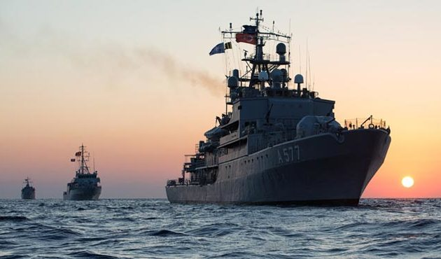 Türk donanmasıyla Rumlar arasında'gaz dalaşı'