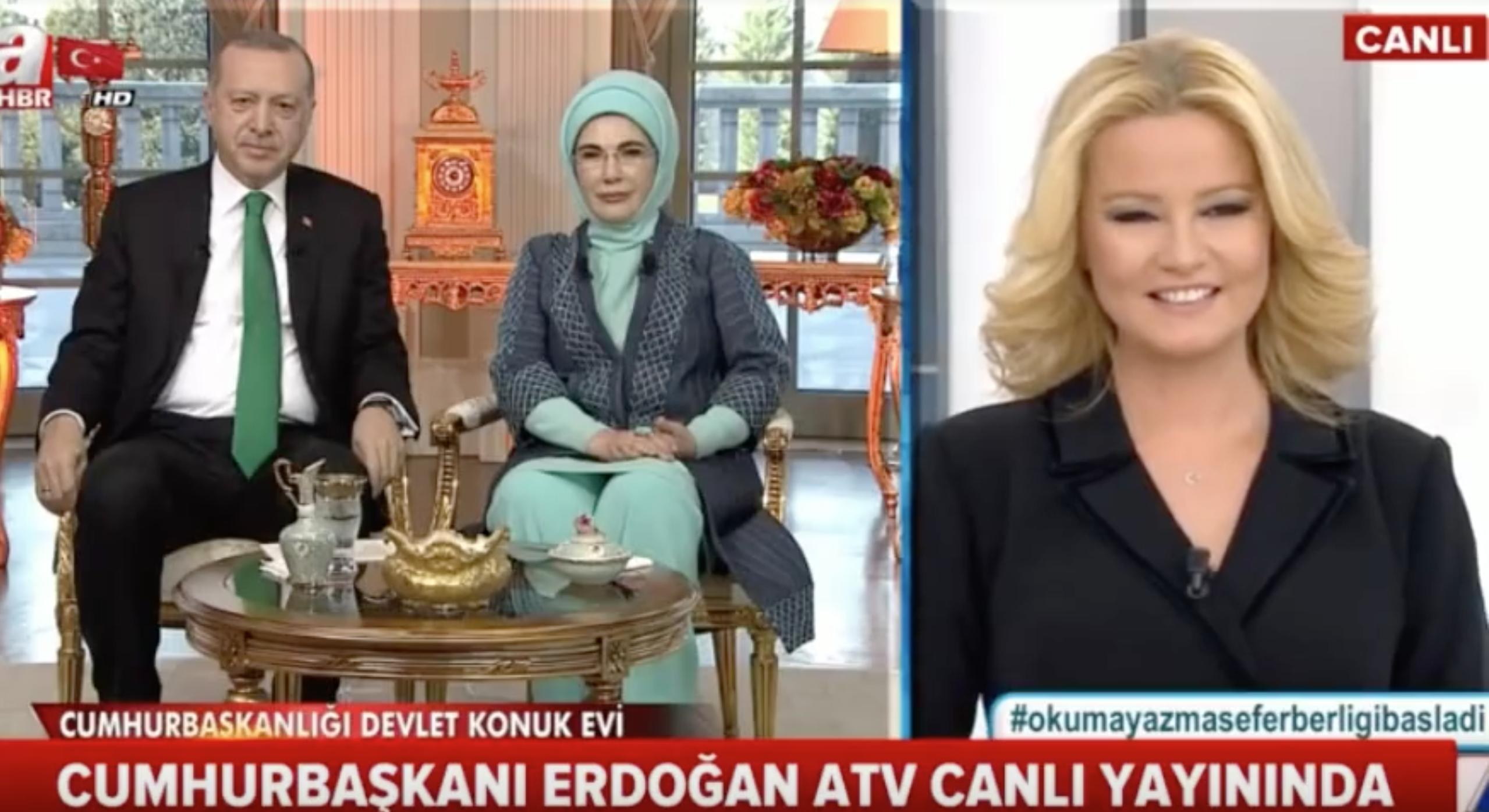 Erdoğan Müge Anlı'ya katıldı