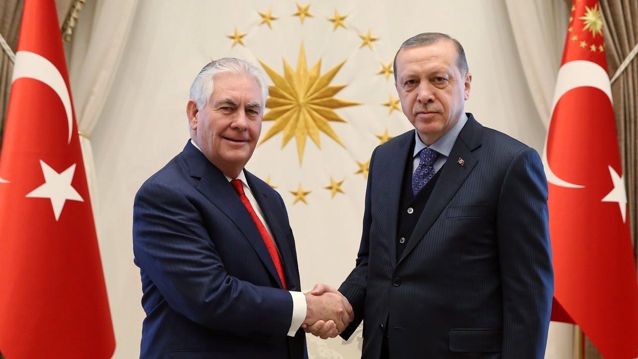 Erdoğan-Tillerson görüşmesi başladı