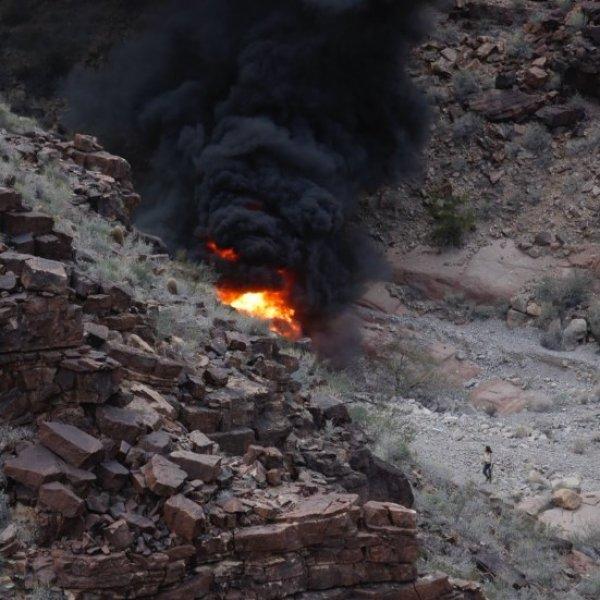 Büyük Kanyon'da helipkopter düştü: 3 kişi hayatını kaybetti