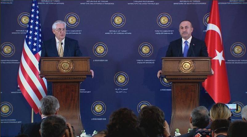 Tillerson ve Çavuşoğlu'ndan ortak açıklama: Anlaşmaya vardık