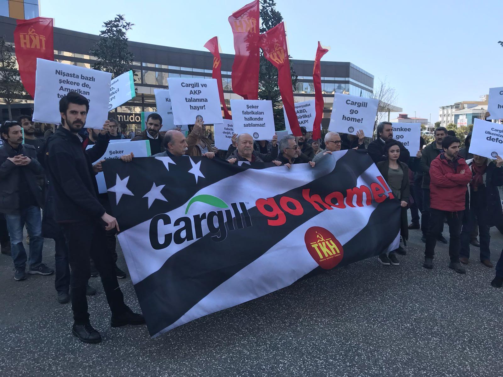 TKH'den İstanbul'da eylem: Cargill de gidecek, emperyalistler de!